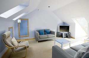 Beatiful Attic Conersion into a living Room