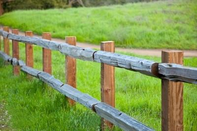 Split Rail Wooden Fence