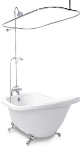 How to Add a Shower to an Existing Clawfoot Bathtub | How To Build A ...