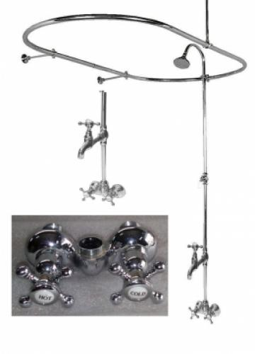 Shower riser   Oval shower rod  Clawfoot bathtubs are old fashioned tubs  How to Add a Shower to an Existing Clawfoot Bathtub   How To Build  . Add Shower To Clawfoot Tub. Home Design Ideas