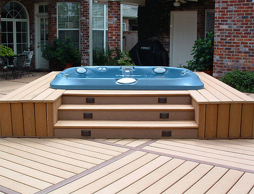 How to install a hot tub on top of your home deck ideas how to build a house - Things consider installing balcony home ...