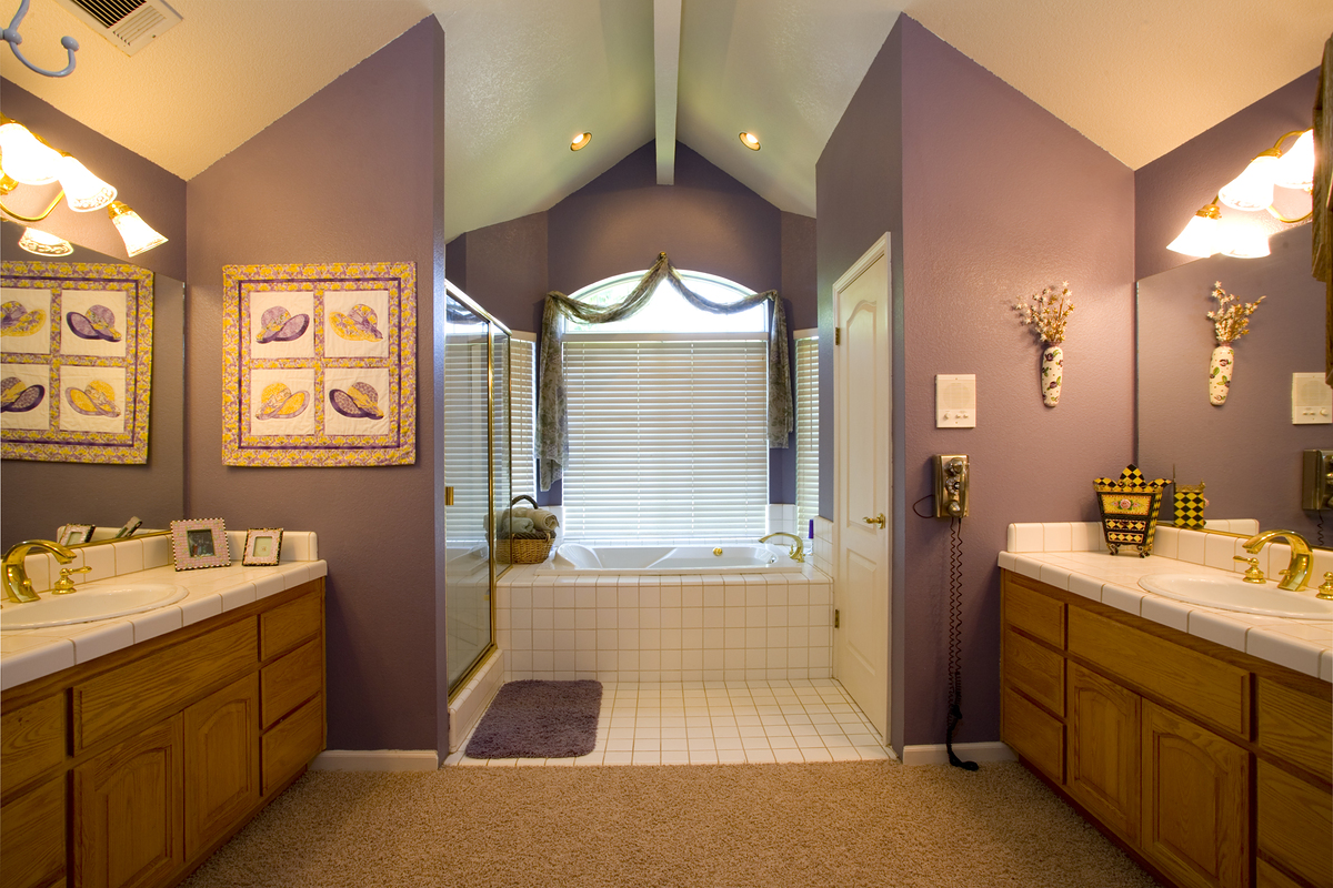 The right paint color for your bathroom how to build a house Bathroom wall paint designs
