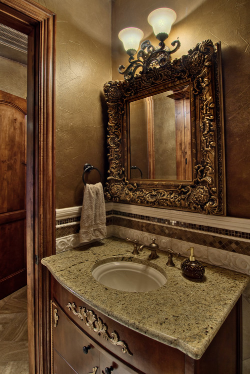 Faux finish a wall for a spanish mediterranean or american southwestern look how to build a house Interior design half bathroom