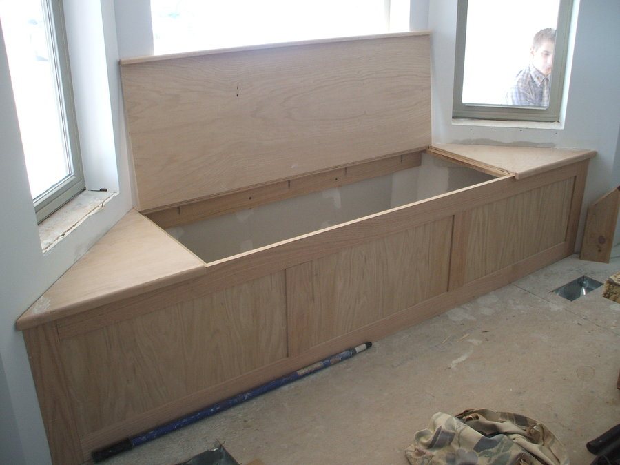 Wooden Bench under Construction