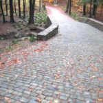 Driveway from Recycled Granite Cobblestone Pavers