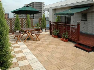 Wood-Plastic Composite Decking Tiles