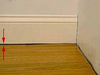 Gaps between Floor and Baseboard
