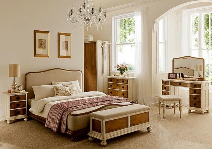 A Bedroom Decorated in French Style