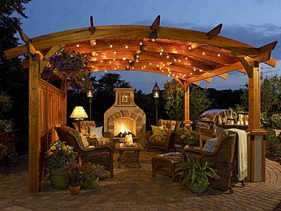 Beautiful Free Standing Pergola