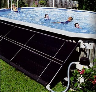 Family using their Backyard Swimming Pool