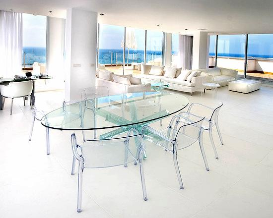 Choose glass furniture for your home how to build a house - Table a manger transparente ...