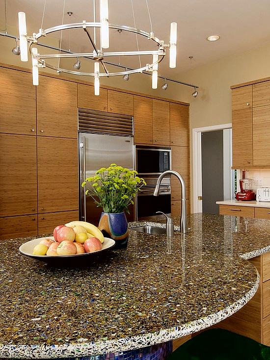 Countertop Materials Recycled : ... Sustainable Option - Recycled Glass Countertops How To Build A House