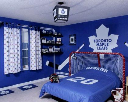 Attrayant Sports Themed Childrenu0027s Room