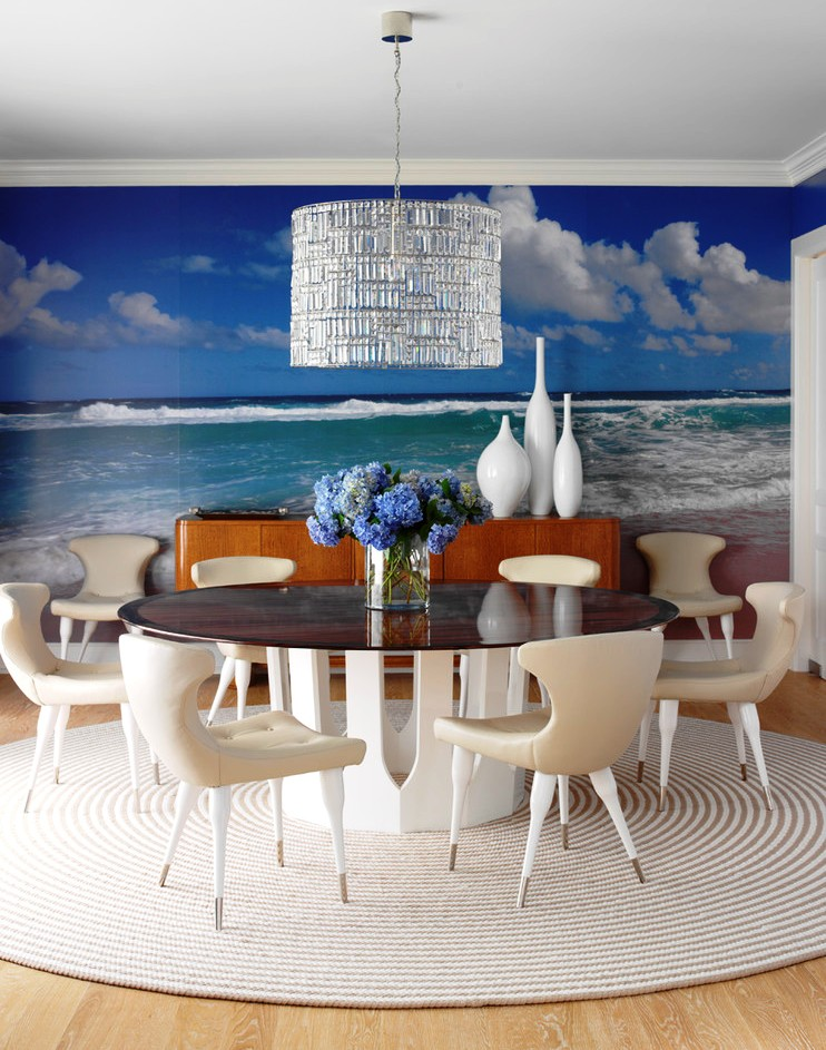 Make your home look bigger with nature inspired wall for Dining room mural wallpaper