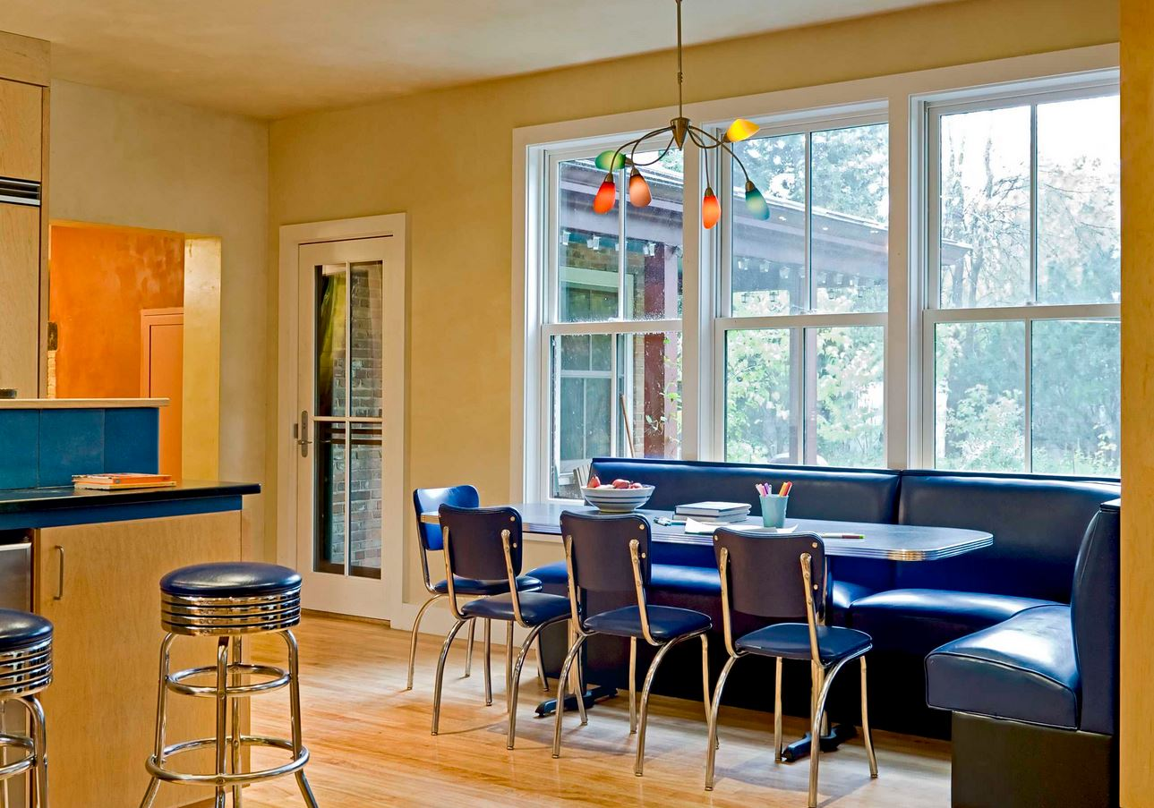 Breakfast nook design ideas how to build a house - Kitchen booths for sale ...