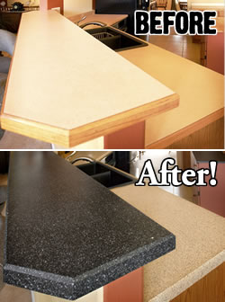 Old Countertop Covering How To Build A House