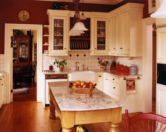 Painting Your Kitchen - Color Tips | How To Build A House on Traditional Kitchen Wall Decor  id=46889